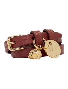 Red & Gold Double Wrap Bracelet by Alexander Mcqueen
