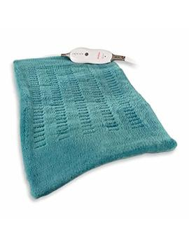 "Sunbeam King Size Micro Plush/Soft Touch Electric Heating Pad With Digital Led Controller, 4 Heat Settings, Moist/Dry Heat, Machine Washable Cover, 12"" X 24"", Teal by Sunbeam"
