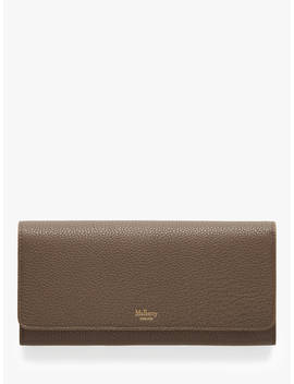 Mulberry Small Classic Grain Leather Continental Wallet, Clay by Mulberry
