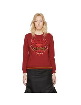 Red Tiger Sweatshirt by Kenzo