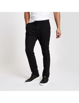 Black Skinny Fit Joggers by River Island