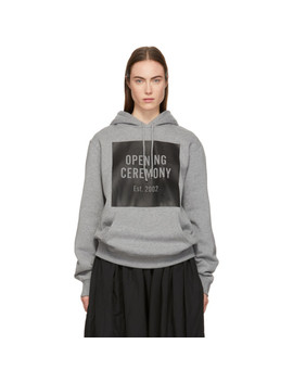 Grey Box Logo Hoodie by Opening Ceremony