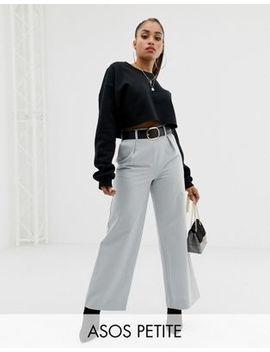 Широкие брюки с защипами Asos Design Petite by Asos