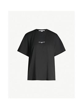 Logo Print Cotton Jersey T Shirt by Stella Mccartney