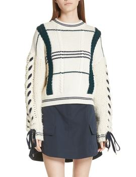 Cable Knit Merino Wool & Alpaca Sweater by Carven