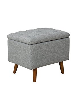 Spatial Order Kaufmann Modern Storage Bench With Button Tufting, Light Gray by Spatial Order