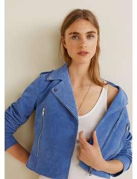 스웨이드 바이커 재킷 by Mango
