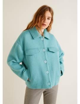 버튼드 울 재킷 by Mango