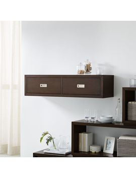 """Aspect Coffee 47.5"""" Floating Cube Shelf With Drawers by Crate&Barrel"""