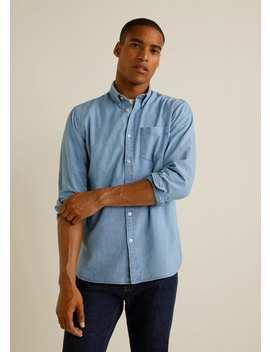 Koszula Regular Fit Z Bawełnianego Batystu by Mango