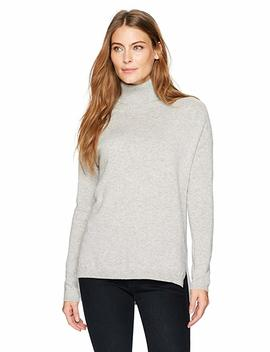 Lark & Ro Women's 100 Percents Cashmere Soft Slouchy Turtleneck Pullover Sweater by Lark+%26+Ro