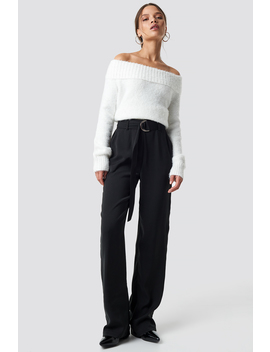 Flared Belted Pants Black by Na Kd