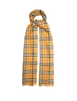 Rainbow Striped Vintage Check Scarf by Burberry