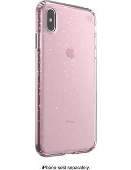 Presidio Grip + Glitter Case For Apple® I Phone® Xs Max   Bella Pink With Gold Glitter by Speck