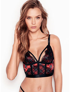 Strappy Plaid Lace Bustier by Victoria's Secret