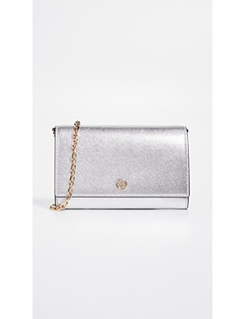 Robinson Metallic Chain Wallet by Tory Burch
