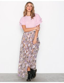 Posy Embroidery Maxi Skirt by For Love & Lemons