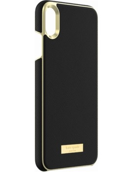 Protective Case For Apple® I Phone® Xs Max   Saffiano Black by Kate Spade New York
