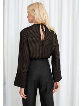 Glitter Pinstripe Blouse by & Other Stories