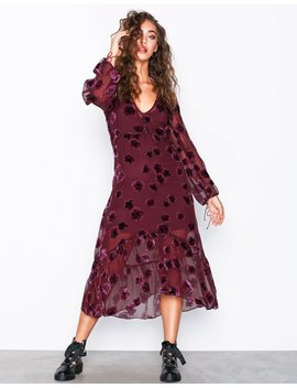 sophie-velvet-floral-midi-dress by for-love-&-lemons