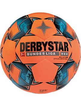 Derbystar Erwachsene Bundesliga Brillant Aps Winter Fußball, Orange/Schwarz/Petrol, 5 by Amazon