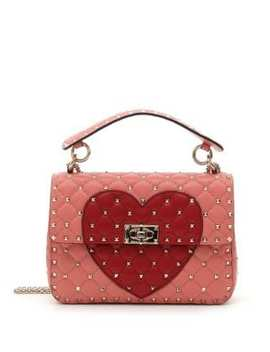 Rockstud Heart Shoulder Bag by Valentino Garavani