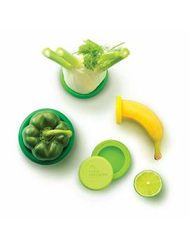 Food Huggers Reusable Silicone Food Savers Set Of Five (Fresh Greens) by Food Huggers
