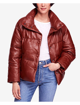 Leather Puffer Coat by Free People