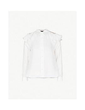 Chella Silk Satin Shirt by Maje