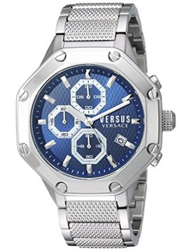 Versus By Versace Men's 'kowloon' Quartz Stainless Steel Casual Watch, Color:Silver Toned (Model: Vsp390117) by Versus By Versace