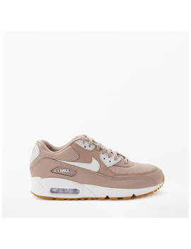 Nike Air Max 90 Women's Trainers, Taupe/White by Nike