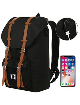 "Benteng Laptop Backpack, Travel Backpack Little America Style With Usb Charging Port  Every Day & Travel Gear For School | Camping | Hiking | College Backpack   Large Bag For 15"" Laptops by Benteng"