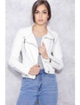 Moto Jacket White by Chiquelle