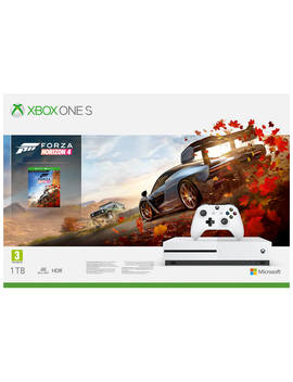 Microsoft Xbox One S Console, 1 Tb, With Wireless Controller And Forza Horizon 4 Bundle by Microsoft