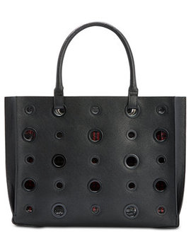Alissa Plaid Lined Grommet Tote by Steve Madden