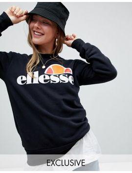 Ellesse – Boyfriend Sweatshirt Med Logga På Bröstet by Asos