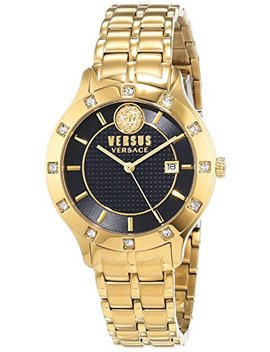 Versus By Versace Lion Head Yellow Gold Women's Watch by Versus By Versace