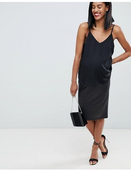 Asos Design Maternity Leather Look Pencil Skirt by Asos Design