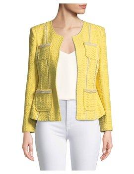 Tweed Jacket With Pearl Trim by Berek