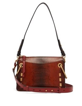 Roy Small Snake Effect Leather Shoulder Bag by Chloé