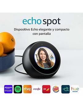 Amazon Echo Spot   Altavoz Inteligente Con Pantalla Que Se Conecta A Alexa, Negro by Amazon