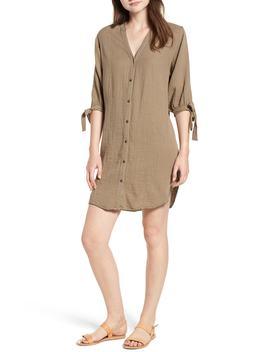 whipstitch-tie-sleeve-shirtdress by splendid