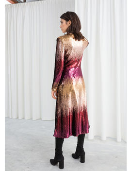 Ombré Sequin Midi Dress by & Other Stories