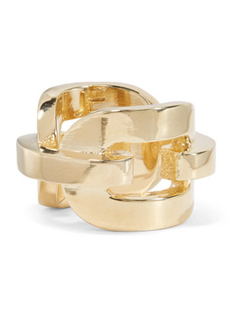 Chain Link Gold Plated Ring by Jennifer Fisher
