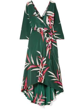Eloise Wrap Effect Printed Silk Crepe De Chine Midi Dress by Diane Von Furstenberg
