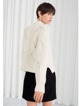 Mock Neck Cable Knit Sweater by & Other Stories