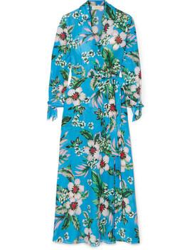 Floral Print Wrap Dress by Diane Von Furstenberg