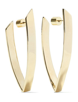 Small Pod Gold Plated Hoop Earrings by Jennifer Fisher