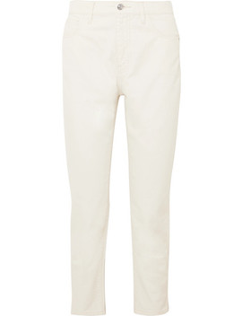 The Vintage Cropped High Rise Slim Leg Jeans by Current/Elliott