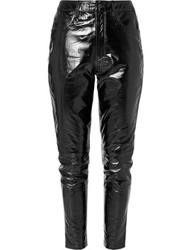 Dreams Textured Patent Leather Slim Leg Pants by Ksubi